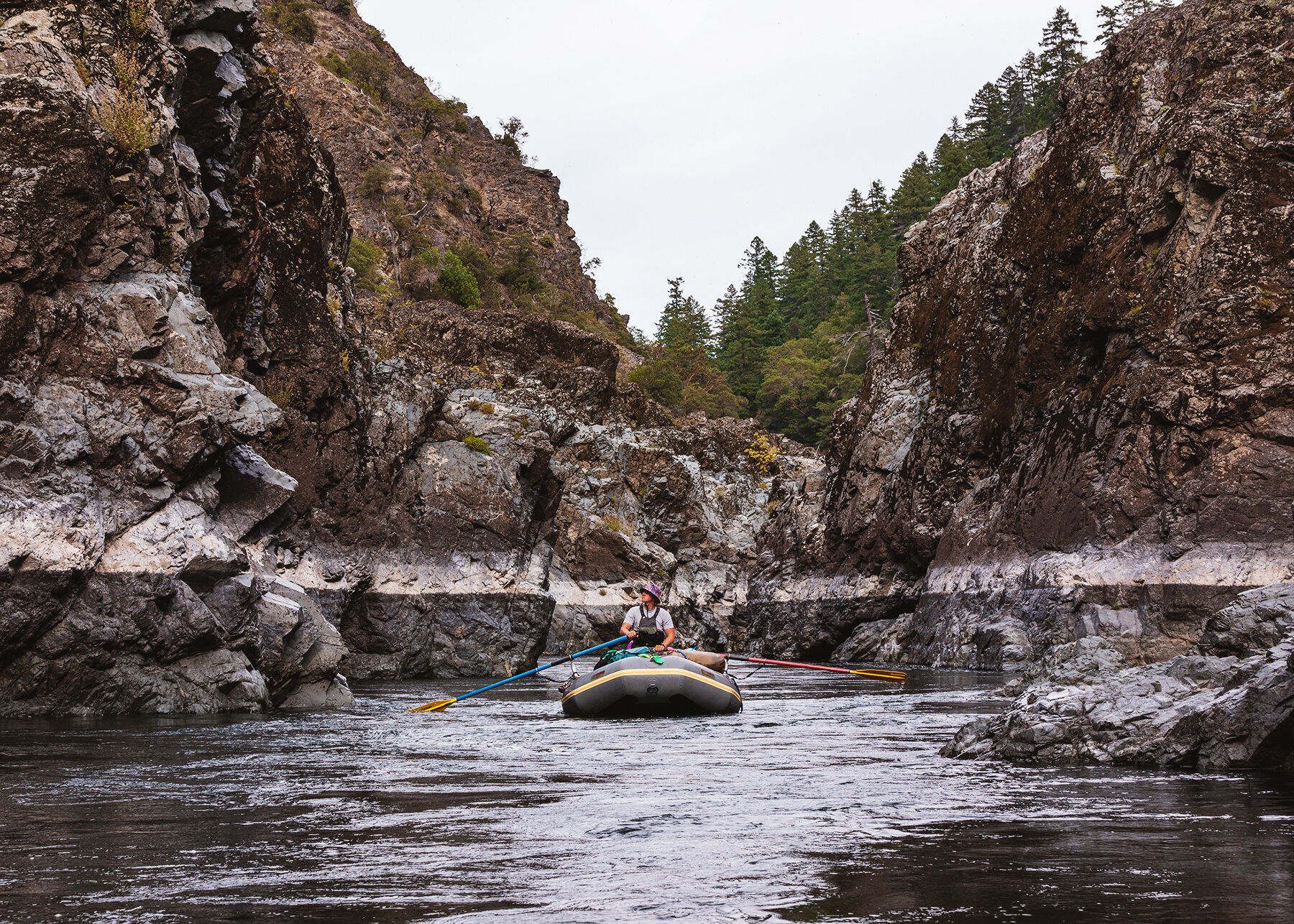 Andrew rafting down the Rogue River in Oregon