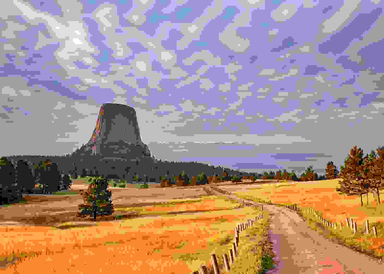 A view of Devils Tower in Wyoming